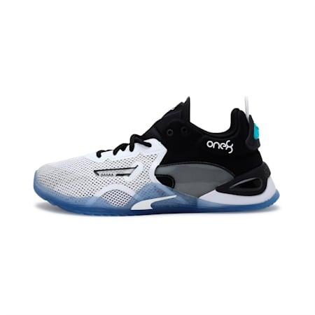 Fuse one8 Mens Training Shoes, Pma Blk-Gry Vlt-Pma Wht, small-IND
