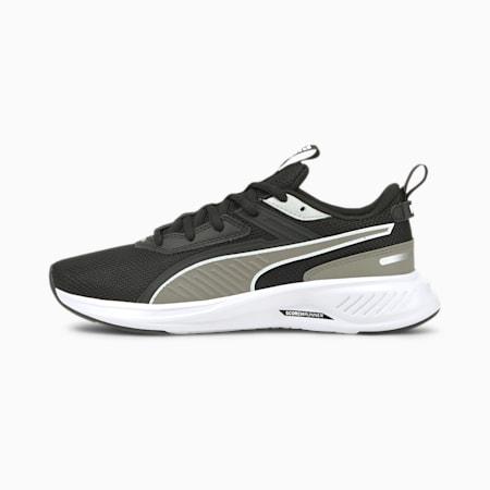 Zapatos deportivos de malla Scorch Runner JR, Puma White-Steeple Gray-Puma Black, pequeño