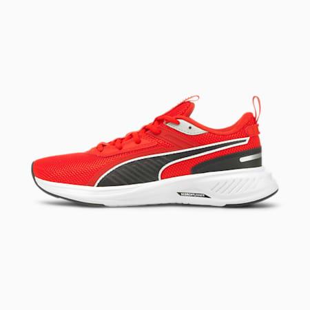 Zapatos deportivos de malla Scorch Runner JR, Puma White-Grenadine-Puma Black, pequeño