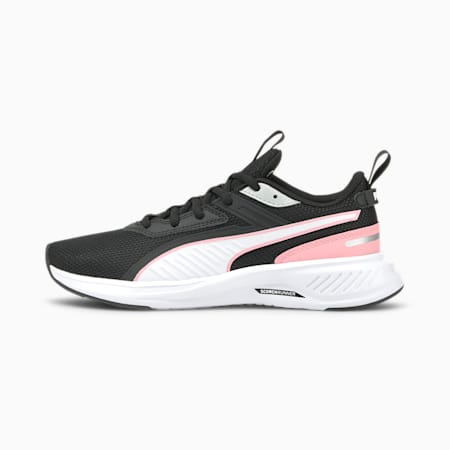 Scorch Runner Mesh Jugend Sneaker, Puma White-Puma Black-Peony, small