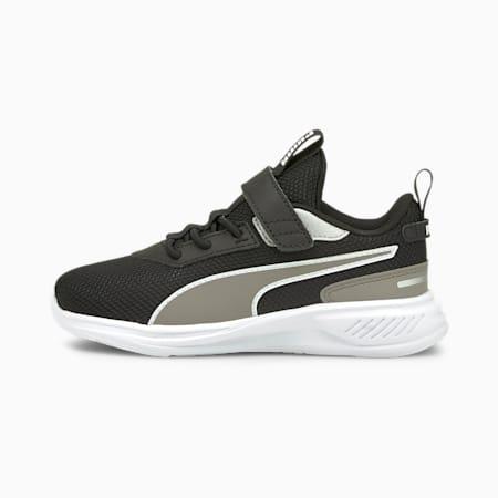 Zapatos deportivos de malla Scorch Runner AC PS para niño pequeño, Puma White-Steeple Gray-Puma Black, pequeño
