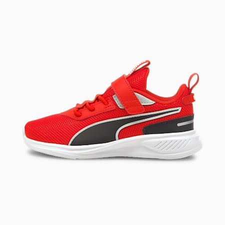 Zapatos deportivos de malla Scorch Runner AC PS para niño pequeño, Puma White-Grenadine-Puma B, pequeño