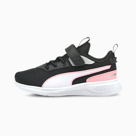 Zapatos deportivos de malla Scorch Runner AC PS para niño pequeño, Puma White-Puma Black-Peony, pequeño