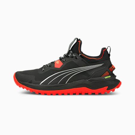 Voyage Nitro Men's Running Shoes, Puma Black-Lava Blast-Metallic Silver, small