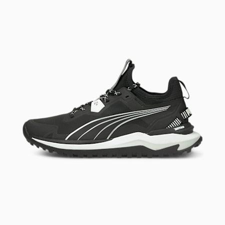 Voyage Nitro Men's Running Shoes, Puma Black-Nimbus Cloud-Metallic Silver, small-GBR