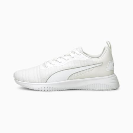 Flyer Flex Women's Running Shoes, Puma White-Metallic Silver, small