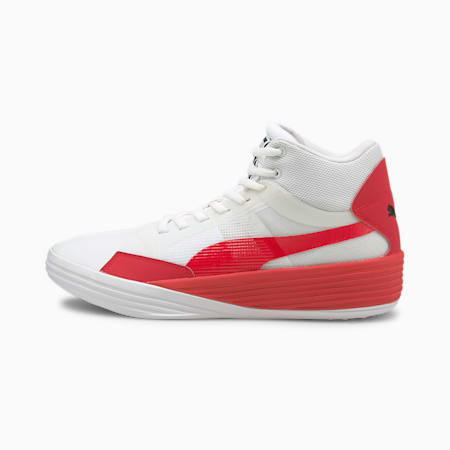 Clyde All-Pro Team Unisex Basketball Mid Boot, Puma White-High Risk Red, small-IND