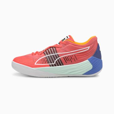 Fusion Nitro Basketball Shoes, Sunblaze-Bluemazing, small