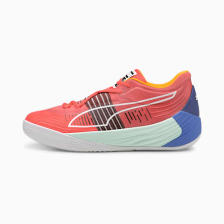 Fusion Nitro Basketball Shoes, Sunblaze-Bluemazing, small-GBR