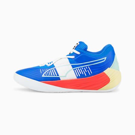 Zapatos de básquetbol Fusion Nitro, Bluemazing-Sunblaze, pequeño