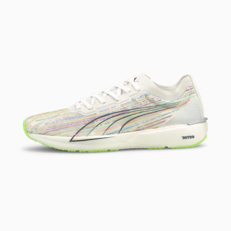 Liberate Nitro Women's Running Shoes, Puma White-Green Glare, small-IND