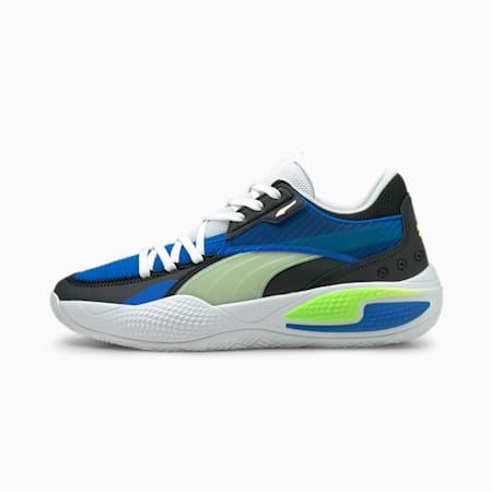 Court Rider I basketbalschoenen, Future Blue-Green Glare, small