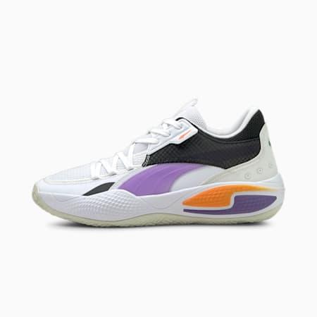 Court Rider I Zapatos para básquetbol, Puma White-Prism Violet, pequeño