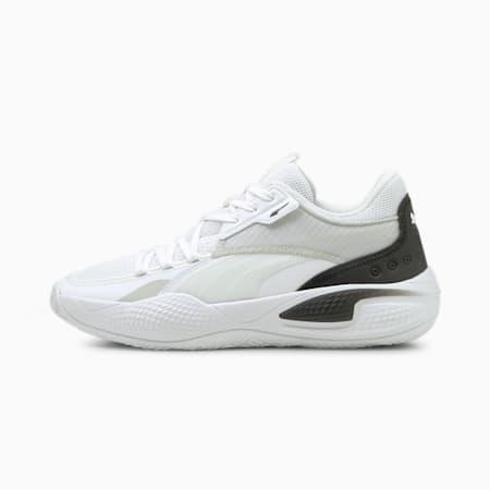 Court Rider I basketbalschoenen, Puma White-Puma Black, small