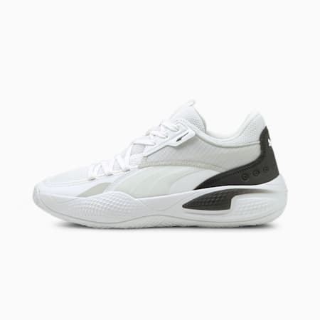 Court RiderI Souliers de basketball , blanc PUMA-noir PUMA, petit