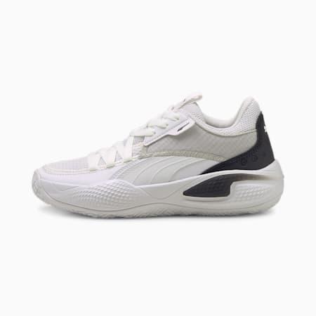 Court Rider I Youth Basketball Shoes, Puma White-Puma Black, small