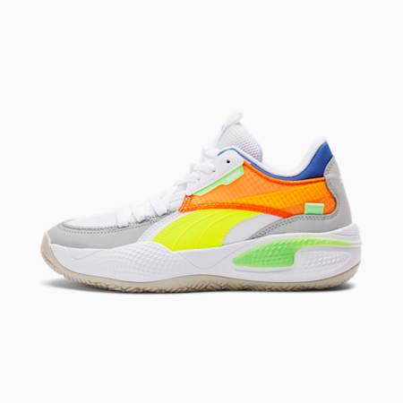 Zapatos para básquetbol Court Rider TwofoldJR, Puma White-Palace Blue, pequeño