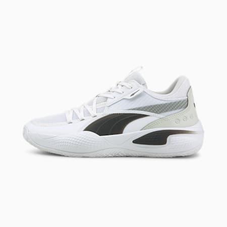 Court Rider Team Basketball Shoes, Puma White-Puma Black, small