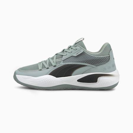Zapatos para básquetbol Court Rider Team, Quarry-Puma Black, pequeño