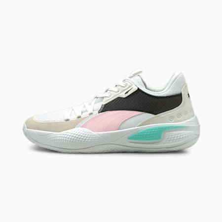 Court Rider Summer Days basketbalschoenen, Puma White-Pink Lady, small