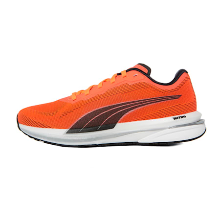 Velocity Nitro Women's Running Shoes, Lava Blast-Black-Silver, small-IND
