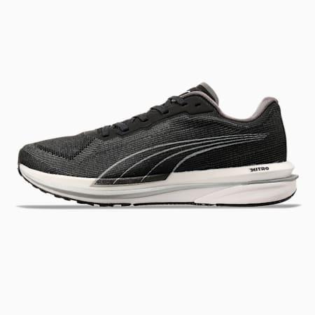 Zapatos para correrVelocity NITRO para mujer, Puma Black-Puma Silver, pequeño