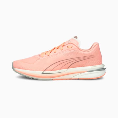 Zapatos para correrVelocity NITRO para mujer, Elektro Peach-Puma Silver, pequeño