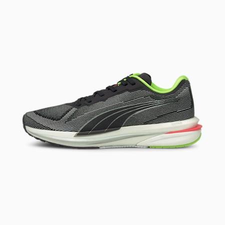 Velocity Nitro Women's Running Shoes, Puma Black-Puma Silver-Sunblaze, small-IND