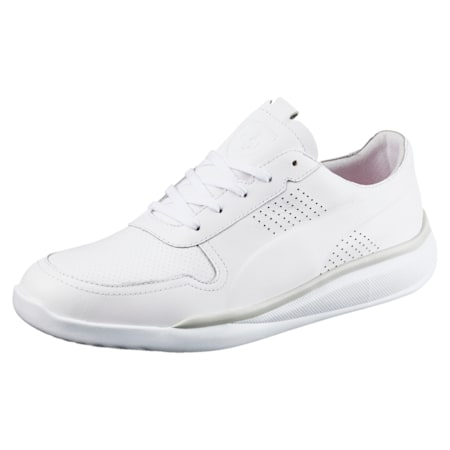 Ferrari Podio Lo Men's Shoes, Puma White-Puma White-White, small-IND