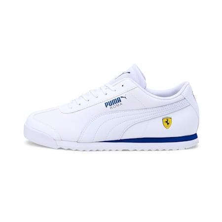 Ferrari Roma Men's Shoes, White-White-Galaxy Blue, small-IND