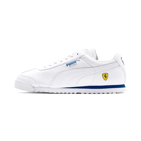 Zapatos deportivos Scuderia Ferrari Roma para hombre, White-White-Galaxy Blue, pequeño