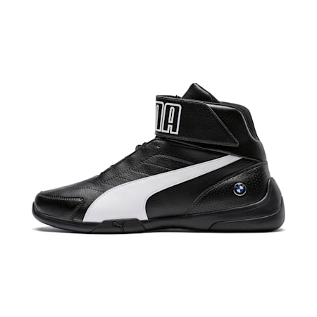 BMW M Motorsport Kart Cat III Mid Men's Shoes, Anthracite-Puma White, small-IND