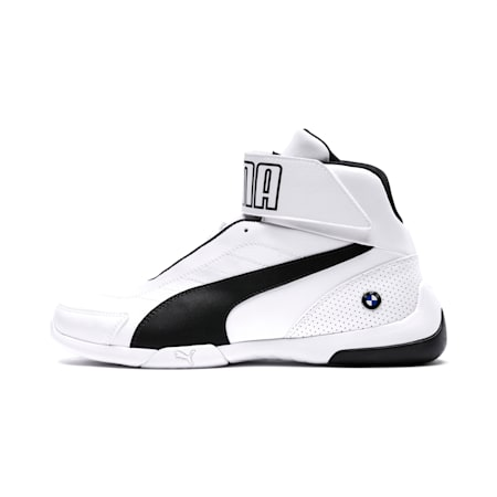 BMW M Motorsport Kart Cat III Mid Men's Shoes, Puma White-Anthracite, small-IND