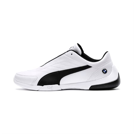 BMW M Motorsport Kart Cat III Shoes, Puma White-Anthracite, small-IND