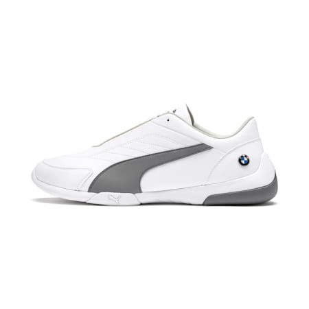 BMW M Motorsport Kart Cat III Shoes, Puma White-Smoked Pearl, small-IND
