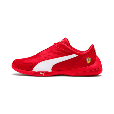 Ferrari Kart Cat III Shoes, Rosso Corsa-White, small-IND