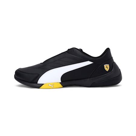 Ferrari Kart Cat III Shoes, Black-White-Blazing Yellow, small-IND