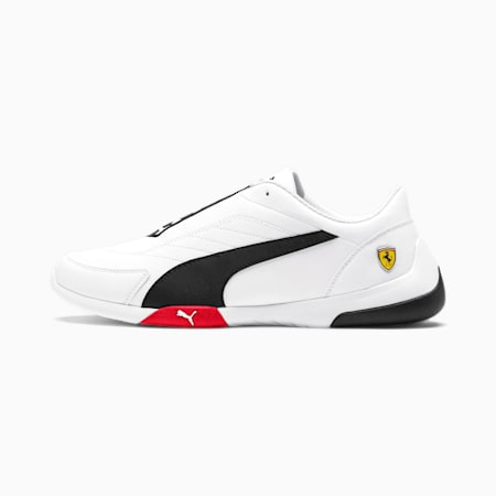Ferrari Kart Cat III Shoes, White-Black-Rosso Corsa, small-IND