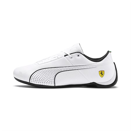 Ferrari Future Cat Ultra Trainers, Puma White-Puma Black, small