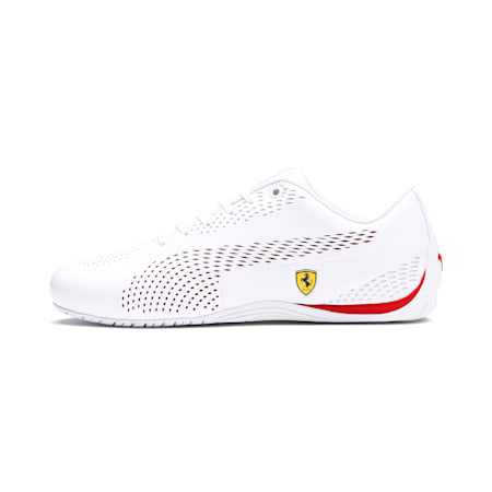 SF Drift Cat 5 Ultra II Unisex Shoes, Puma White-Rosso Corsa, small-IND