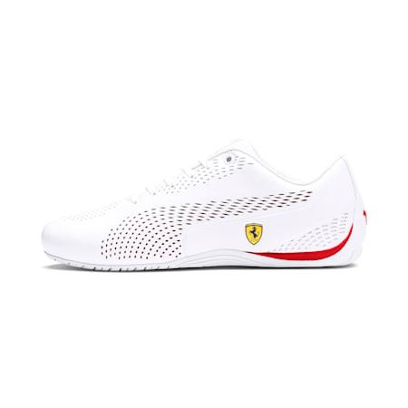 Ferrari Drift Cat 5 Ultra II Shoes, Puma White-Rosso Corsa, small-IND