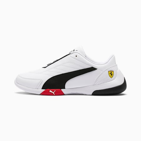 Ferrari Kart Cat III Youth Shoes, White-Black-Rosso Corsa, small-IND