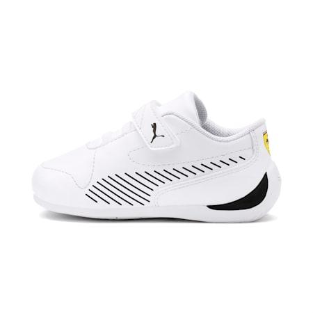 Dzieciece buty sportowe Ferrari Drift Cat 7S Ultra, Puma White-Puma Black, small