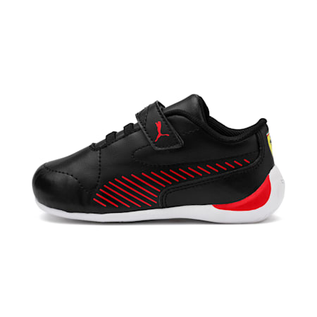 Ferrari Drift Cat 7S Ultra Babies' Trainers, Puma Black-Rosso Corsa, small