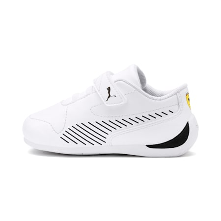 Ferrari Drift Cat 7S Ultra Babies' Trainers, Puma White-Puma Black, small