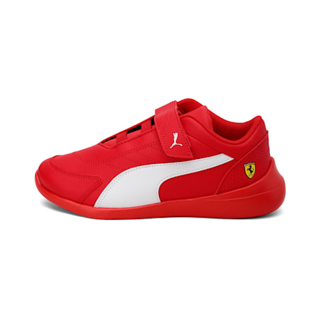 Ferrari Kart Cat III Kids' Shoes, Rosso Corsa-Wht-Rosso Corsa, small-IND