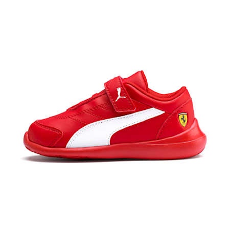Scuderia Ferrari Kart Cat III Toddler Shoes, Rosso Corsa-Wht-Rosso Corsa, small