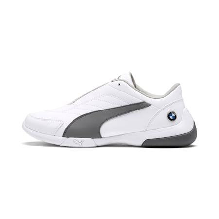 BMW MMS Kart Cat III Shoes JR, Puma White-Smoked Pearl, small