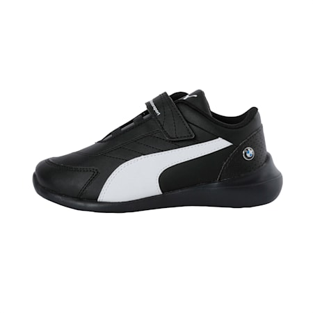 BMW M Motorsport Kart Cat III Kids' Shoes, Puma Black-Puma White, small-IND