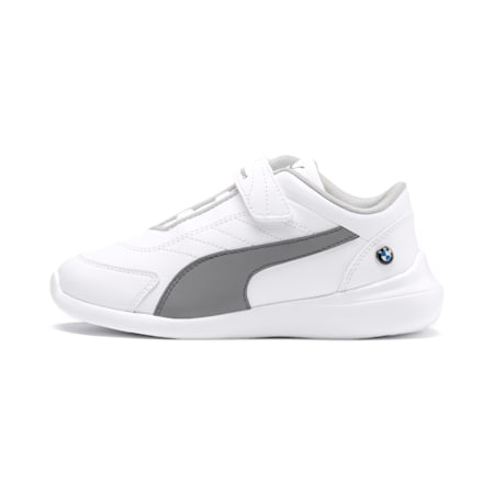 BMW M Motorsport Kart Cat III Kids' Shoes, Puma White-Smoked Pearl, small-IND